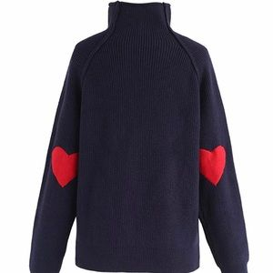 Chicwish Heart and Soul Patched Knit Sweater